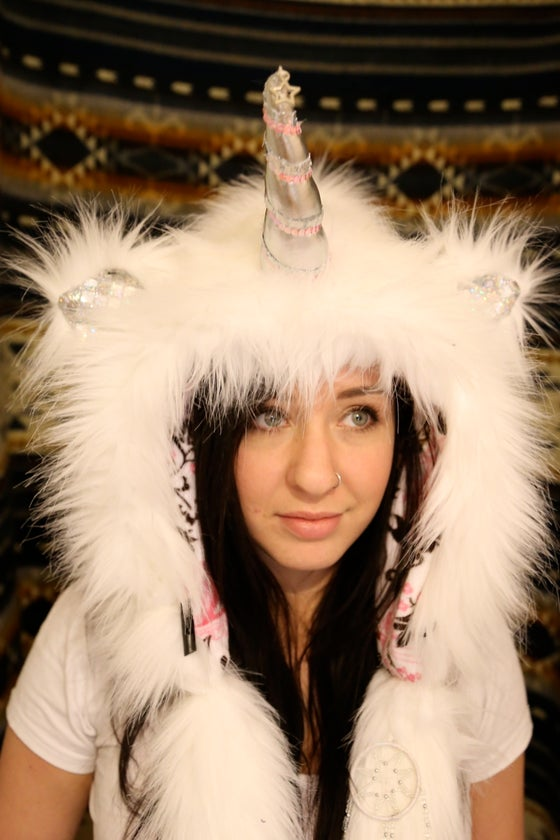 Image of Pure Glitter Bolli Unicorn Hood