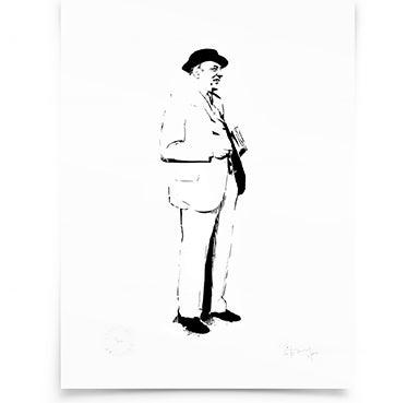 Image of Sir John Betjeman on paper - Screenprint