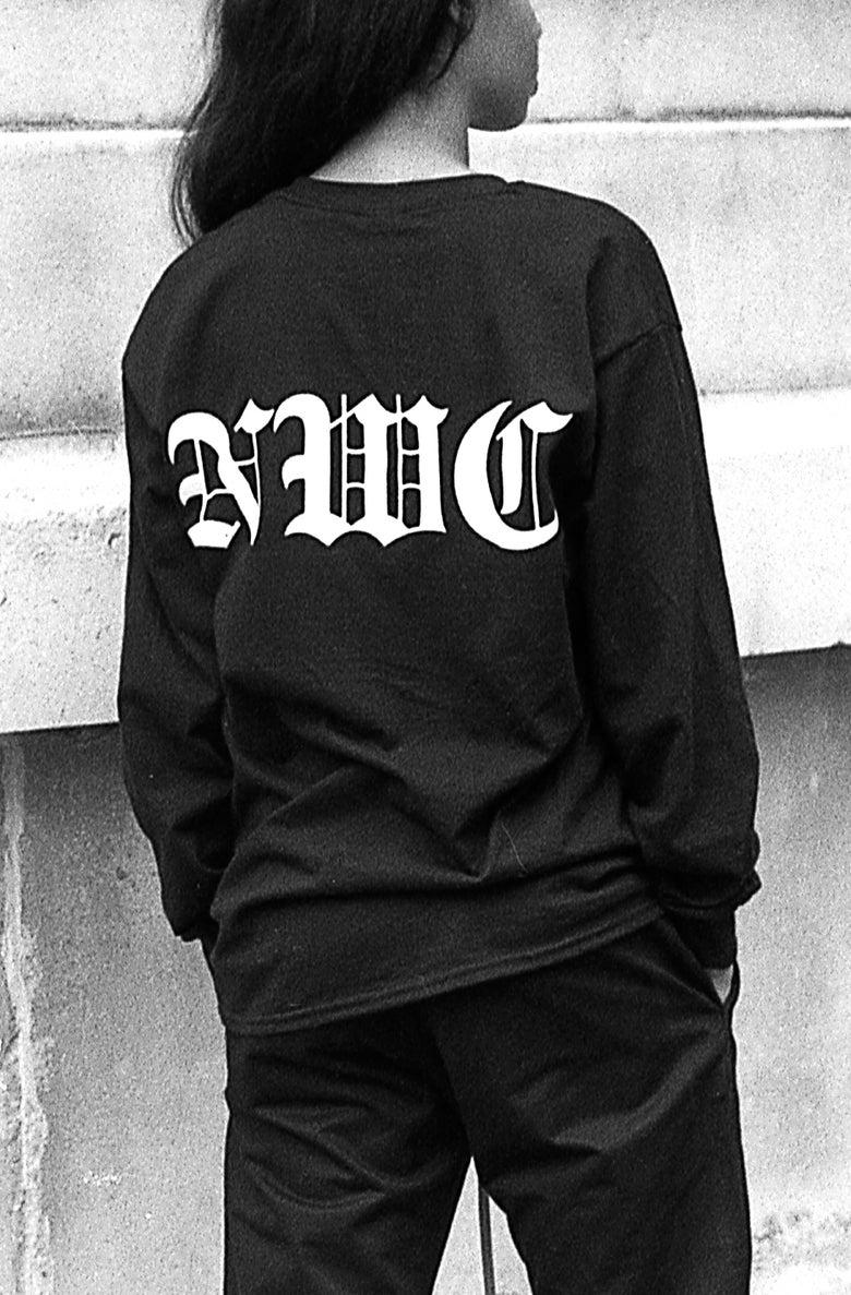 """Image of Olde English """"Black"""" long sleeve"""