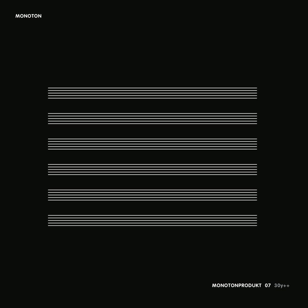 Image of Monoton - Monotonprodukt 07 2LP (dsr034LP) - fifth pressing limited black vinyl