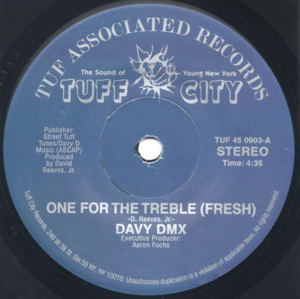 Image of ONE FOR THE TREBLE (FRESH)-DAVY DMX