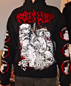 Image of Animals Killing People - Hooded Sweatshirt - Human being devoured by animals design.