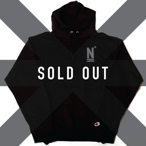 Image of N Logo Hoodie Black