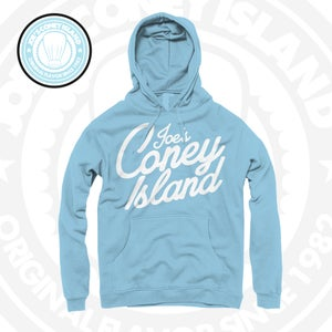 Image of Simplicity - legend blue hoodie - white Print