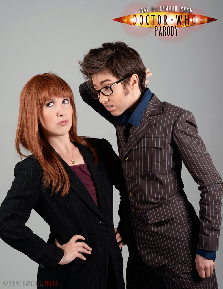 Image of DOCTOR AND DONNA AUTOGRAPHED PHOTO