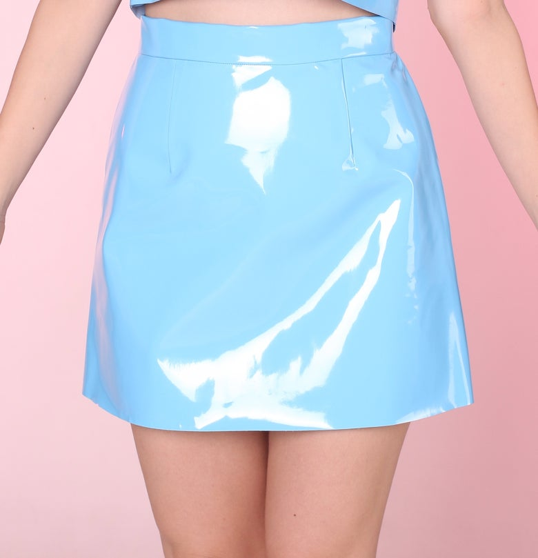 Image of Made To Order - Blue PVC Motel Skirt