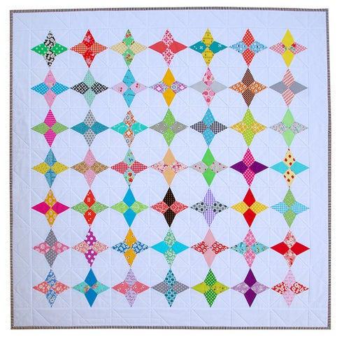 Image of 5 Inch Hummingbird Block ~ FOUNDATION PAPER PIECING PATTERN