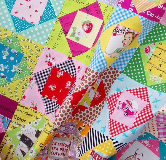 Image of 5 Inch Economy Block ~ FOUNDATION PAPER PIECING PATTERN