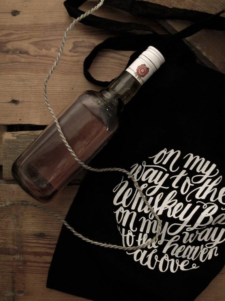 Image of Whiskey Bar Lyrics Tote Bag