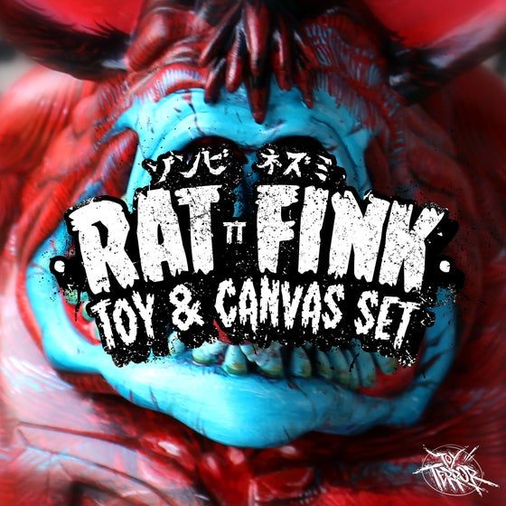 "Image of TT ""Rat Fink"" Toy and Canvas Set"