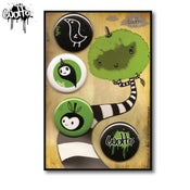 Image of Wotto Button 4pk Series 2