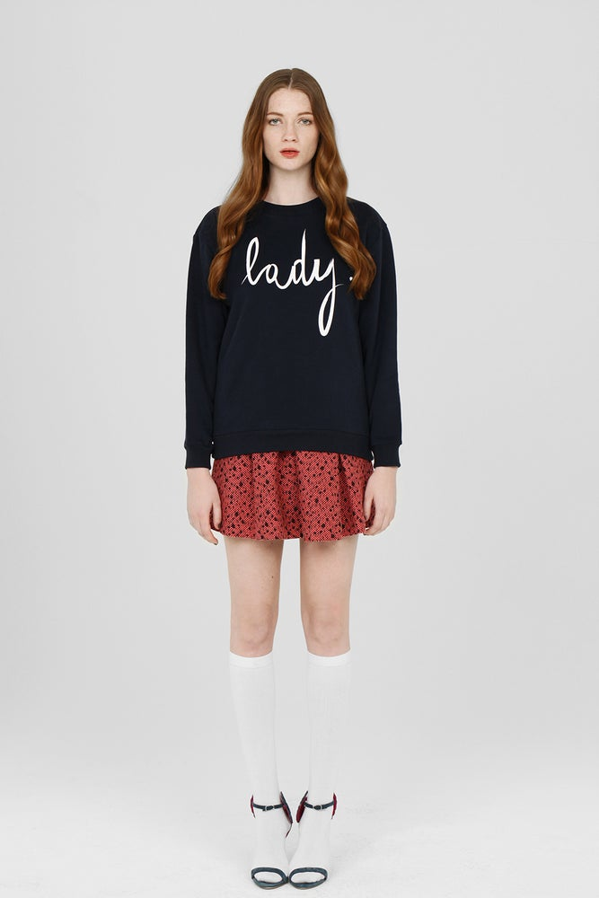 Image of LADY LOGO NAVY SWEATSHIRT