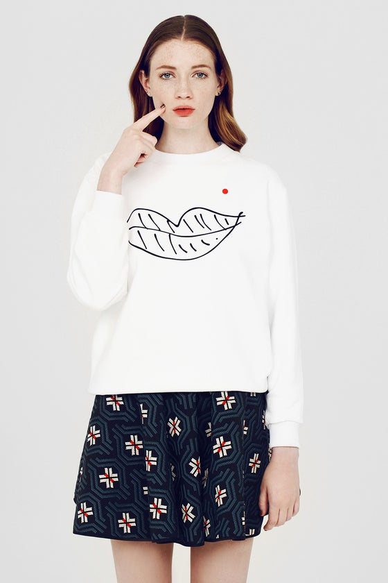 Image of LIPS WHITE SWEATER