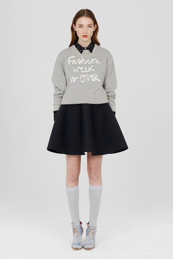 Image of FASHION WEEK IS OVER GREY SWEATER