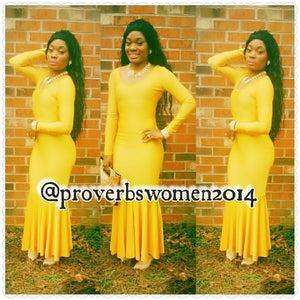 Image of she golden mermaid dress
