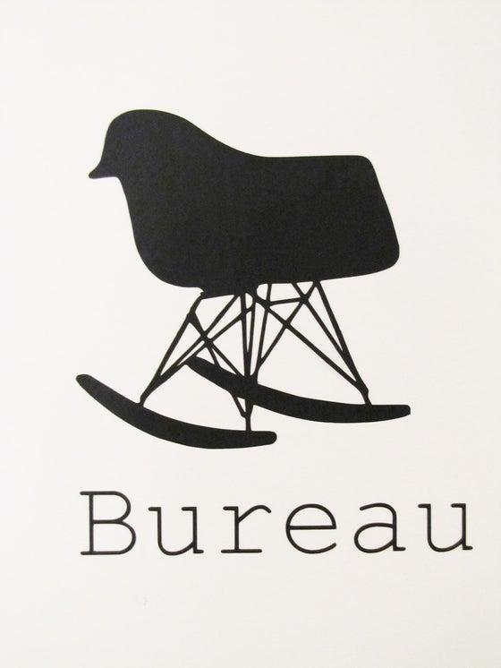"Image of Sticker ""Fauteil et Bureau"""