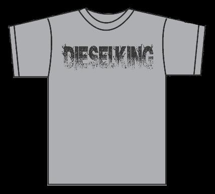 Image of Diesel King Concrete Grey Logo t shirt.