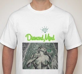 Image of WHITE MENS DIAMOND MIND TSHIRT