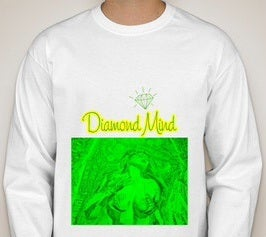 Image of MENS WHITE DIAMOND MIND LONGSLEEVE