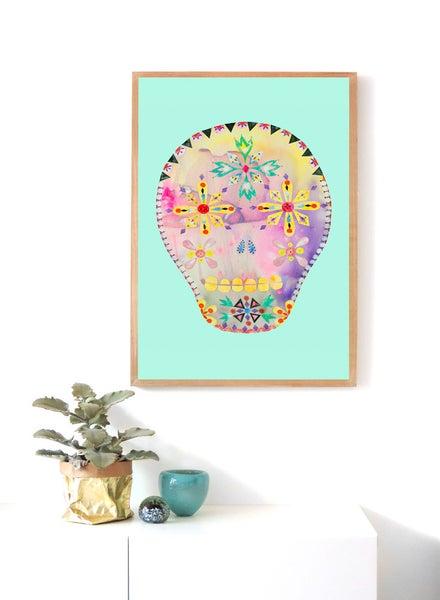 Image of Calavera Green Prints