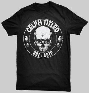 Image of Celph Titled Skull Logo T-Shirt - Black Tee