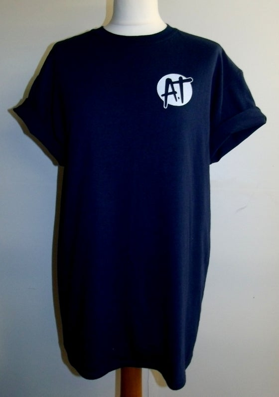 Image of Navy chest logo t-shirt