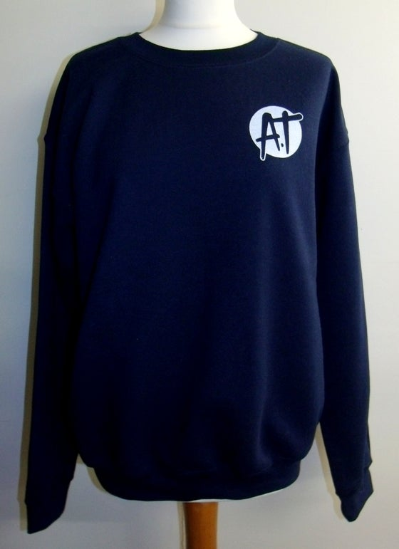 Image of Navy chest logo sweatshirt
