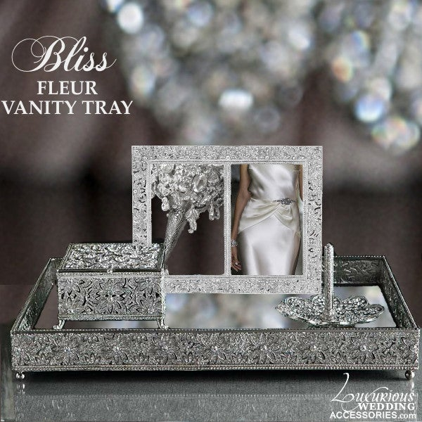 Image of Bliss Fleur Vanity Mirror Tray
