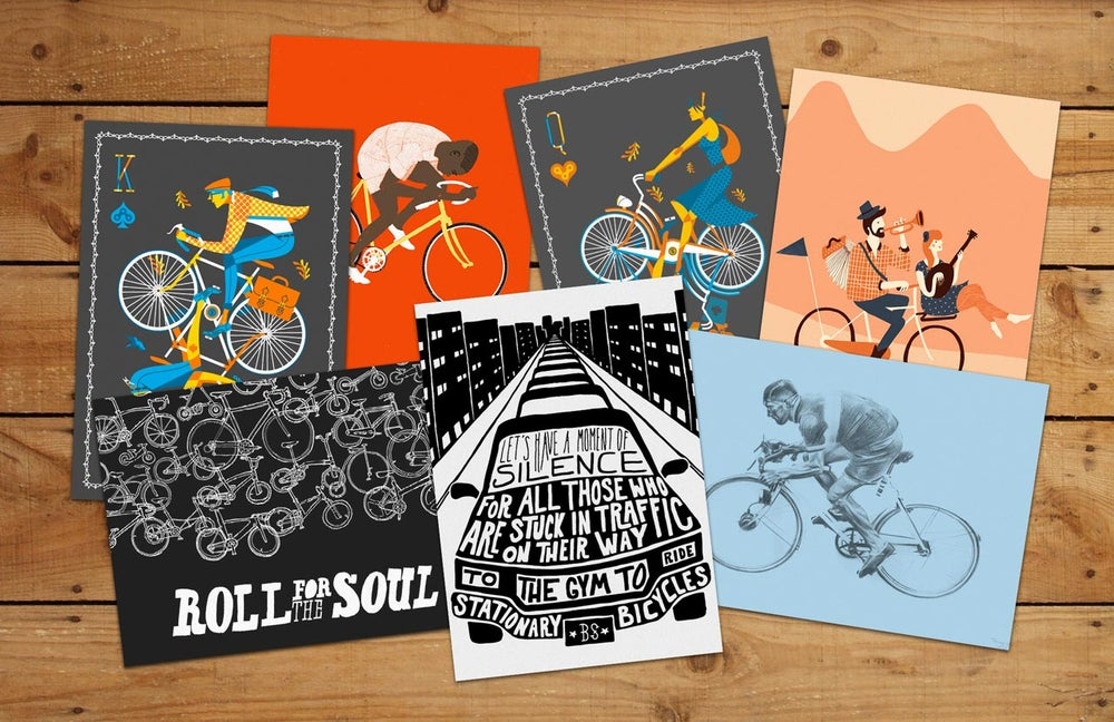 Image of Boneshaker illustrator postcard set 3