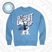 Image of Get Your Weight Up - Crewneck ( legend blue Crew Neck - navy/white print )