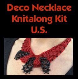 Image of Red Deco Necklace Knitalong Kit - U.S.