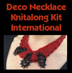 Image of Red Deco Necklace Knitalong Kit - International
