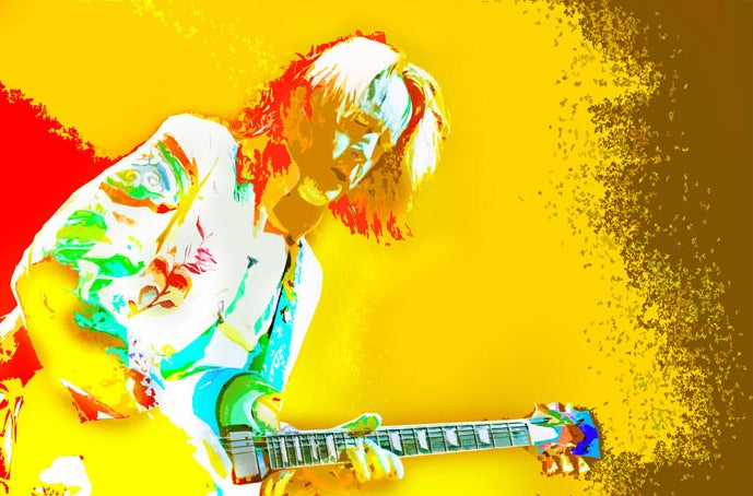Image of TR Live Yellow Multi Color print