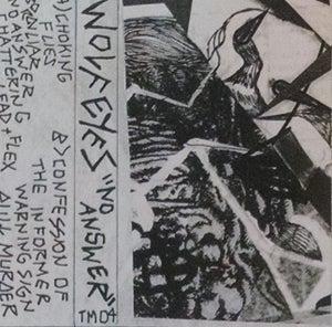 "Image of WOLF EYES ""NO ANSWER"" Cassette Version + BONUS"