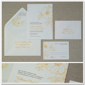 Image of Summer Floral Wedding Invitations