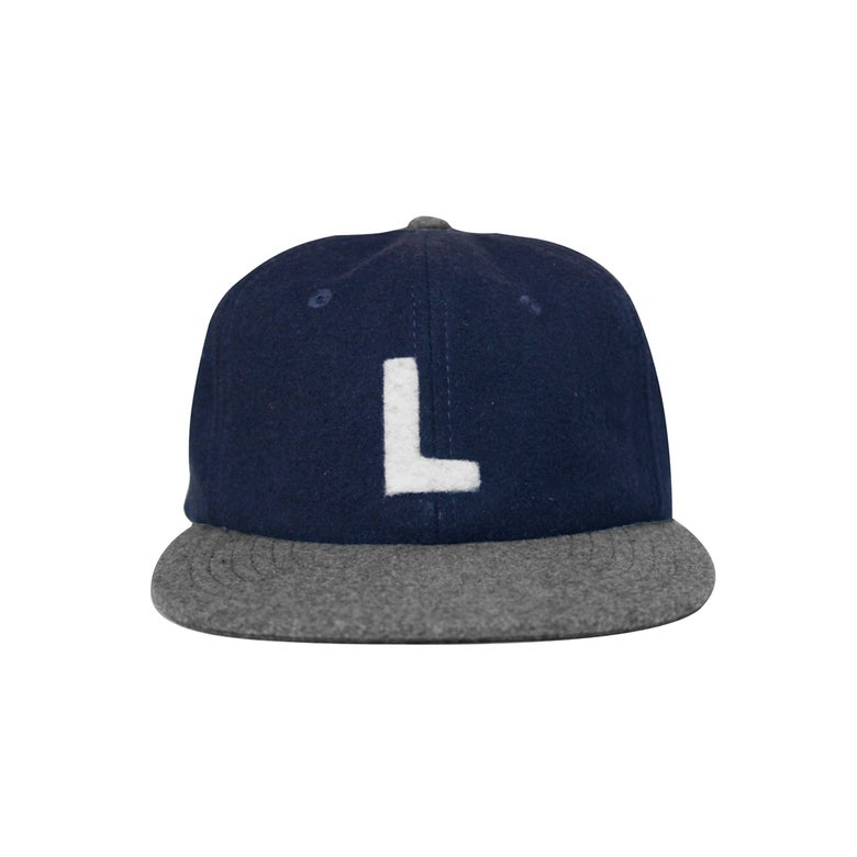 Image of Navy Wool Strap Back - Navy