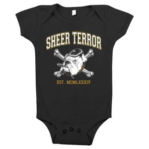 """Image of SHEER TERROR """"Est. MCMLXXXIV"""" Baby One-piece"""