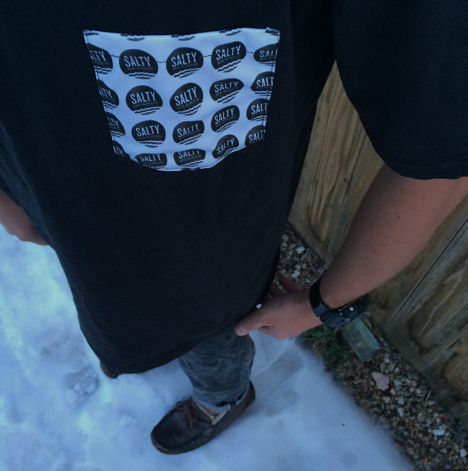 Image of Salty Beards Polka Pocket Tee
