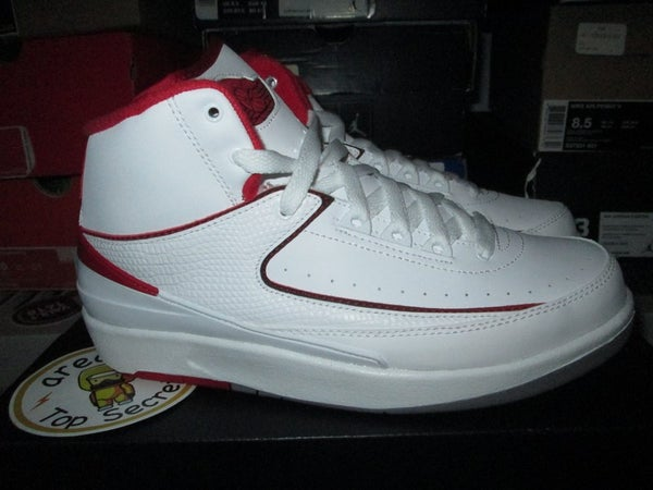"""Air Jordan II (2) Retro """"White/Red"""" GS - areaGS - KIDS SIZE ONLY"""