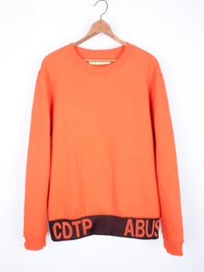 Image of Raf Simons x Sterling Ruby - Quilted Contrast Elastic Band Sweatshirt