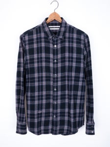 Image of Robert Geller - Brushed Tartan Flannel Shirt