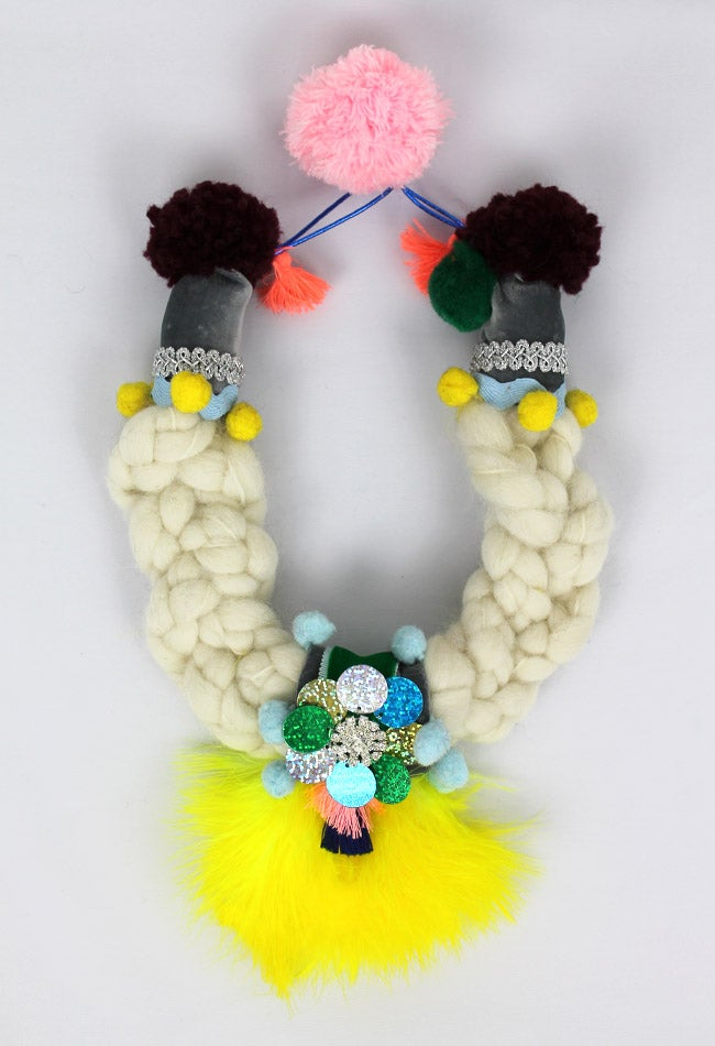 Image of WOOL + YELLOW FEATHERS COLLAR II