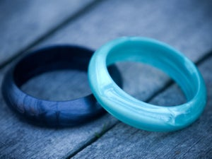 Image of Belle & Bambino Silicone Bangle - Metallic Finish