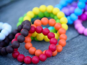 Image of Belle & Bambino Silicone Bracelet - Small Round Bead