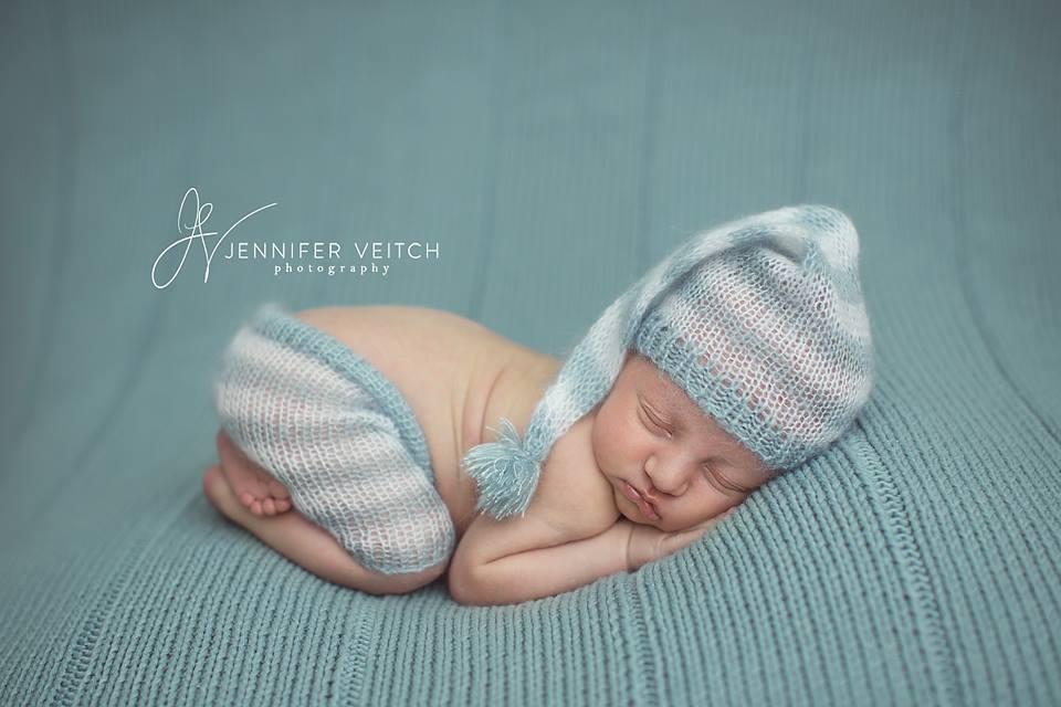 Image of Striped Elf Hat / Short Set