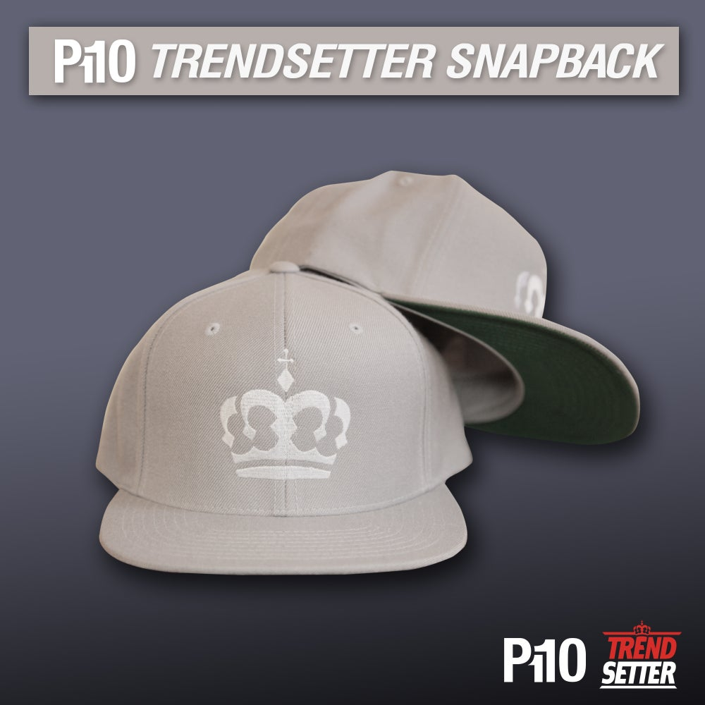 Image of Grey #TrendSetter Crown Snapback