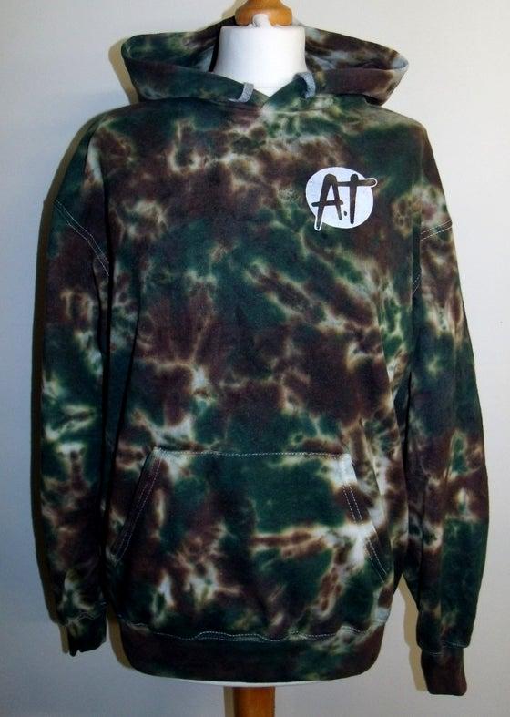 Image of Camo tie dye hoodie