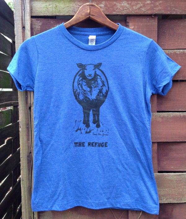 Image of Men | short sleeve, heather blue, Sheep logo