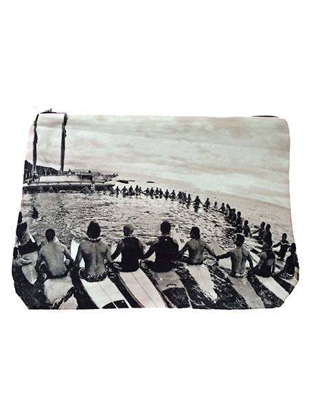 Image of EDDIE AIKAU CEREMONY WITH HOKULE'A • SAMUDRA COLLABORATION POUCH