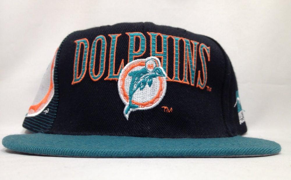 Image of Vintage Miami Dolphins Sports Specialties Black Laser Snapback